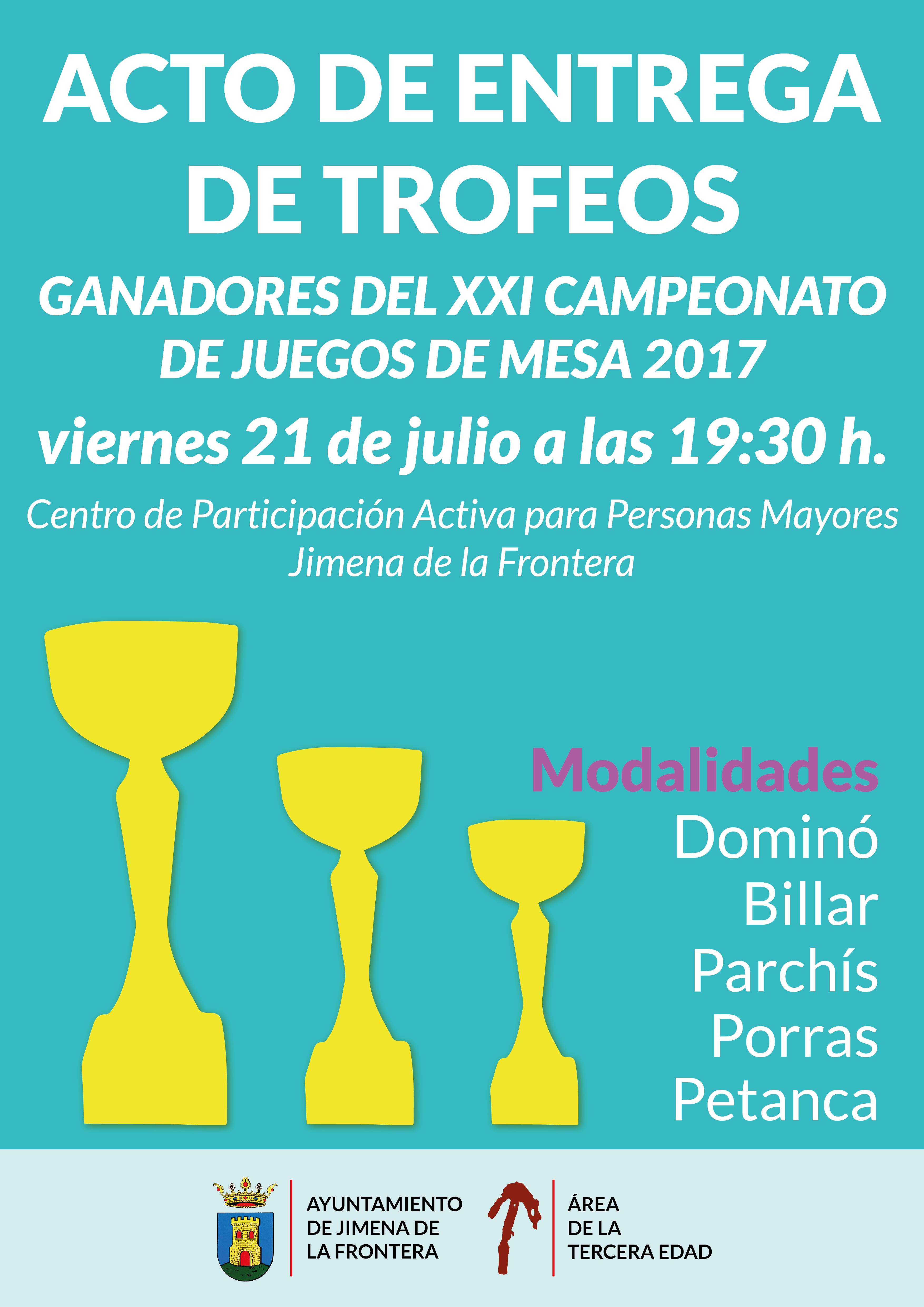 Acto De Entrega De Trofeos Del Xxi Campeonato De Juegos De Mesa 2017